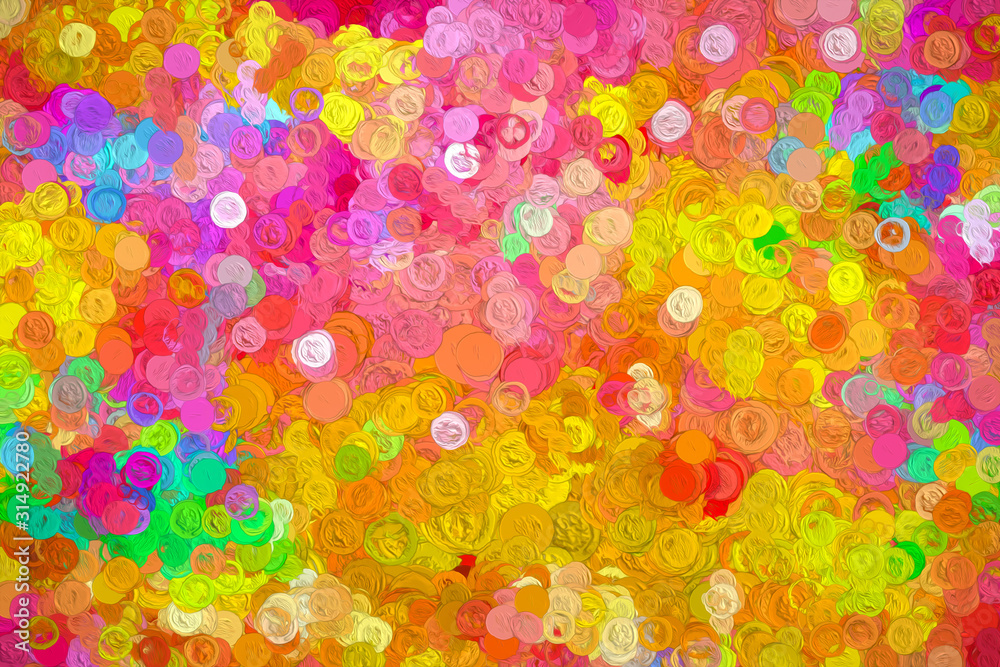 Fototapeta Abstract colorful background. Oil painting effect