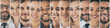 Collage of portraits ethnically diverse business people.