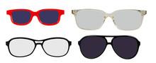 Set Of Sunglasses Isolated On ...