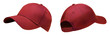 canvas print picture - Red baseball cap in angles view front and back. Mockup baseball cap for your design