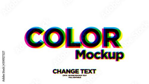 Valokuva Overprint Colors text effect  mockup / full editable