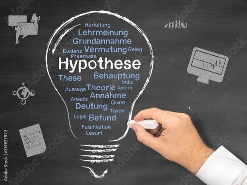 Hypothese Canvas Print