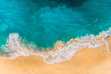 Aerial View Of Turquoise Ocean...