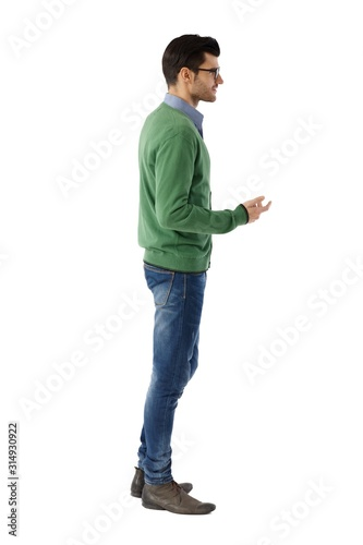 Obraz Side view of young man - fototapety do salonu