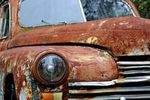 Rusty Car On The Yard