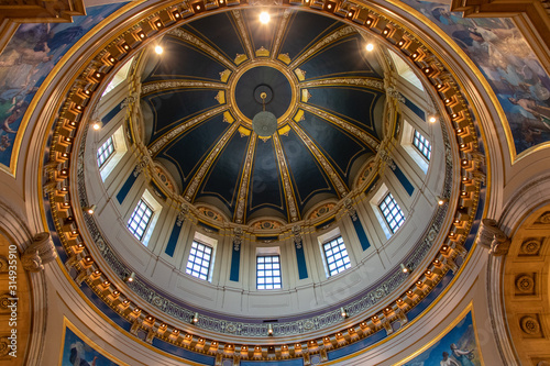 Inside the Dome of the Saint Paul Minnesota Capitol Building Fototapet