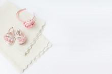 Pair Of Folded White Knitted P...