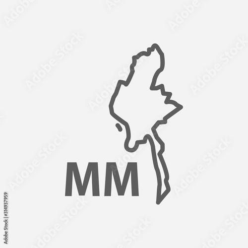 Foto  Burma icon line symbol