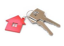House And Keys On White Backgr...