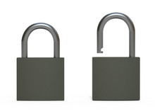 Set Of Padlocks 3d Rendering