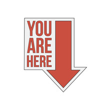You Are Here Sign Icon. Info Speech Bubble. Map Pointer With Your Location. Vector Illustration On White Background