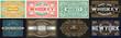 Mega set of 8 vintage labels. Vector layered
