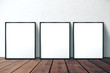 canvas print picture Three blank picture frame