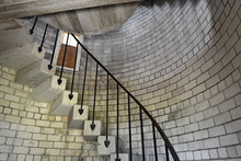 Circular Staircase And Railing Inside Lighthouse