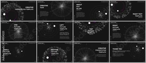Presentation design vector templates, multipurpose template for presentation slide, flyer, brochure cover design, infographic report Wallpaper Mural
