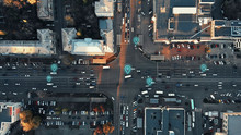 Aerial View Of City Intersecti...