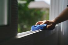 Hand Holding Microfiber Cloth ...
