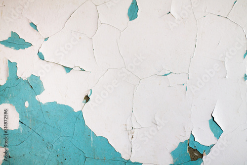 Fotomural The texture of the wall with peeling paint