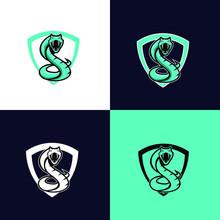 Blue Viper Snake Sport Logo De...