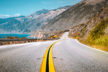 Famous Highway 1 At Big Sur, C...