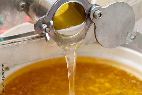 Dripping organic honey Wallpaper Mural