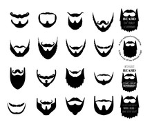 Beard Vector Set Collection Gr...