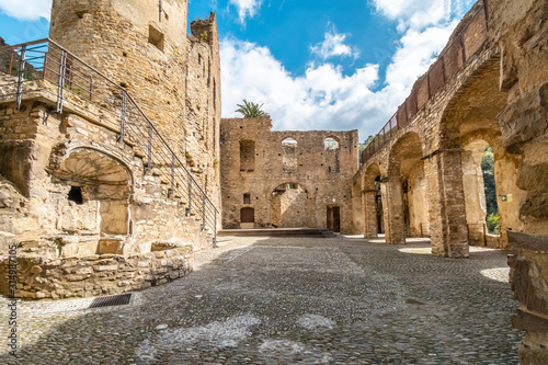 Fototapeta  The interior of the ancient ruins of Doria castle or castrum, built in the 12th