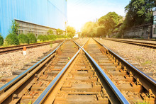 Railway Passing Through Indust...