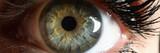 Human green eye supermacro closeup background. Check vision concept