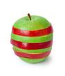 Stack of sliced apples