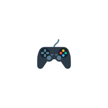 Joystick Vector Icon. Isolated Game Controller Color Flat Joystick - Vector