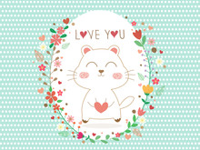 Beautiful Greeting Card With W...
