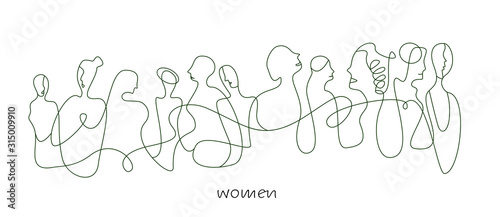 Fototapeta women concept in modern creative style, women are different concept on the white background, obraz