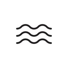 Wave Icon Design Eps 10