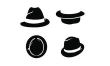 Collection Black Fedora Hat Ic...