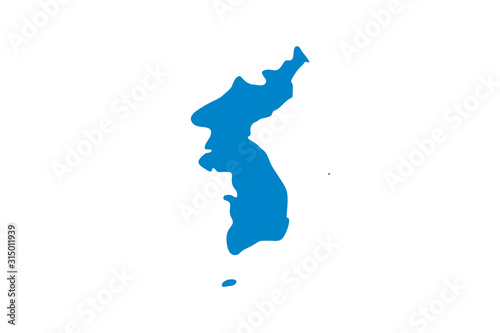 Fototapeta  Unification flag of Korea in proportions and colors vector