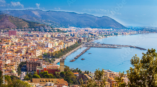 View of Salerno and the Gulf of Salerno Campania Italy Canvas Print