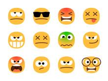 Anger Emoticons. Angry Emoji S...