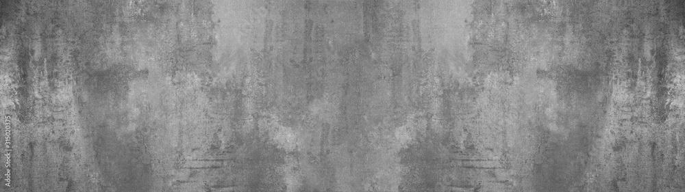 Fototapeta black grey anthracite stone concrete texture background panorama banner long