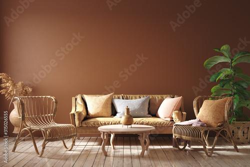 Leather Sofa Rattan