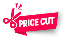 Vector Illustration Sale And Discounts Cut Prices Design For Banner With Scissors