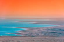 Sunrise Over Dead Sea. Beautif...