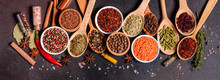 A Set Of Spices And Herbs. Ind...
