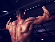 Strong Masculine Man Athlete D...