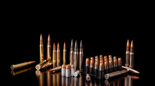 Bullet Isolated On Black Backg...
