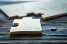 Plywood Puzzles On Weathered W...