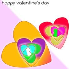 Hearts Overlapping In Multi La...
