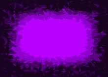 Purple And Black Jagged Frame