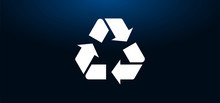 Recycle Symbol Icon Crystal Bl...