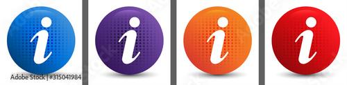 Fototapeta Info icon abstract halftone round button set obraz